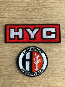 HYC Geborduurde logo's